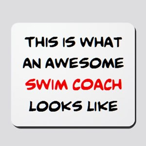 awesome swim coach Mousepad
