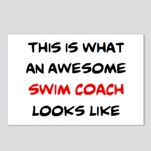 awesome swim coach Postcards (Package of 8)
