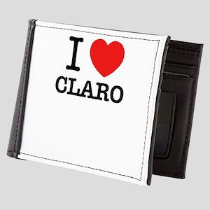 I Love CLARO Mens Wallet