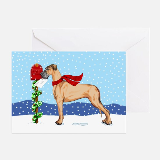 Great Dane Fawn UC Mail Greeting Card