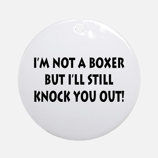 Anesthesia Knock Out Ornament (Round)
