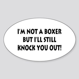 Anesthesia Knock Out Oval Sticker