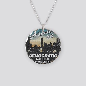 DNC1988faded Necklace Circle Charm
