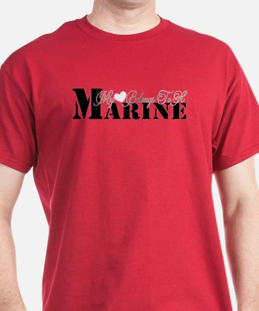 Heart Belongs To A Marine T-Shirt