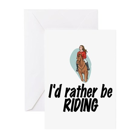SportChick EquestrianChick Rather Greeting Cards (
