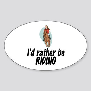 SportChick EquestrianChick Rather Oval Sticker