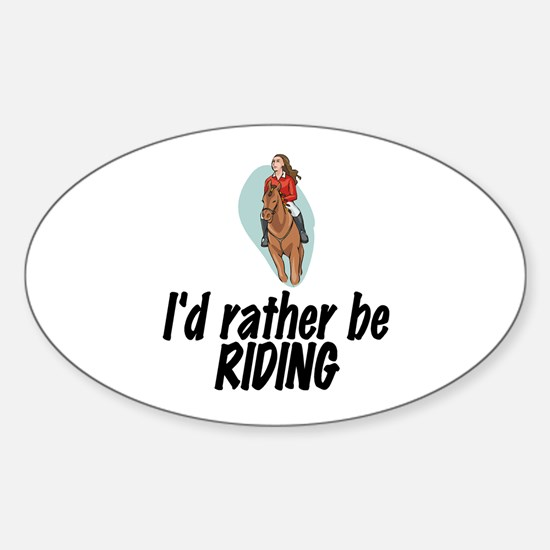 SportChick EquestrianChick Rather Oval Decal