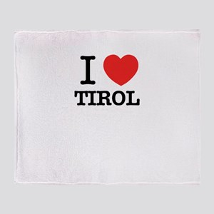 I Love TIROL Throw Blanket