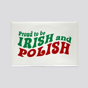 Proud Irish and Polish Rectangle Magnet