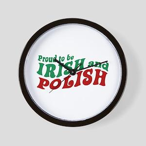 Proud Irish and Polish Wall Clock