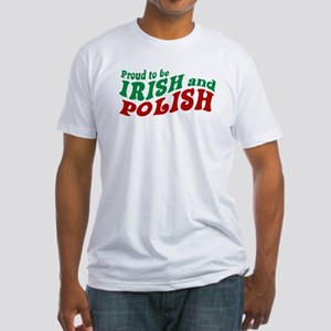 Proud Irish and Polish Fitted T-Shirt