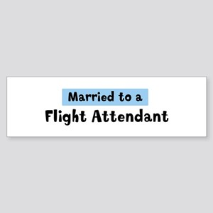 Married to: Flight Attendant Bumper Sticker