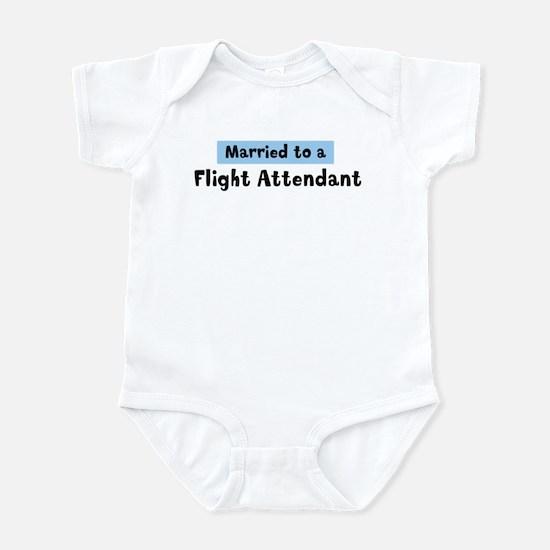 Married to: Flight Attendant Infant Bodysuit