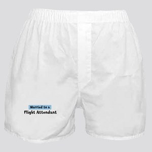 Married to: Flight Attendant Boxer Shorts