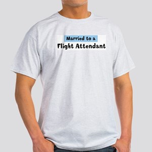 Married to: Flight Attendant Light T-Shirt