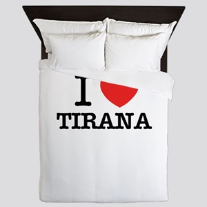 I Love TIRANA Queen Duvet