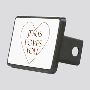 Jesus Loves You Rectangular Hitch Cover