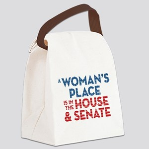 A Woman's Place Is In The House & Canvas Lunch Bag