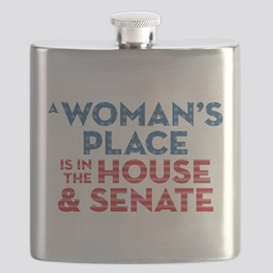 A Woman's Place Is In The House & Senate Flask