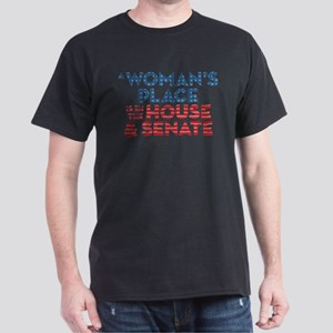 A Woman's Place Is In The House & Sen Dark T-Shirt