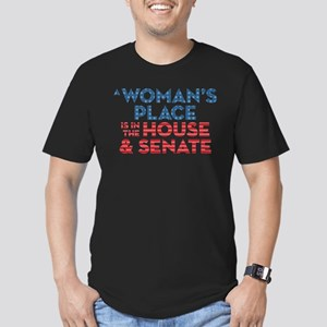 A Woman's Place Is In Men's Fitted T-Shirt (dark)