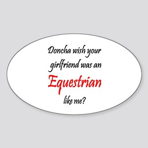 SportChick EquestrianChick Doncha Oval Sticker