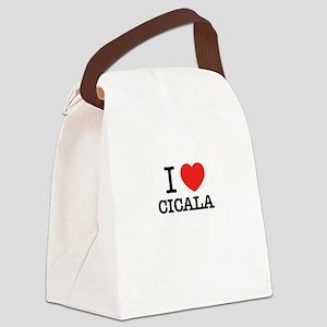 I Love CICALA Canvas Lunch Bag
