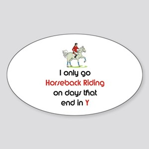 SportChick's EquestrianChick Days Oval Sticker