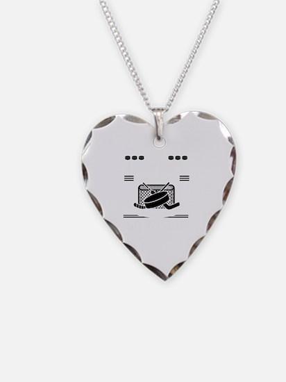 Unique Puck Necklace Heart Charm