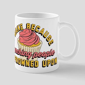 I Bake Because Punching People I 11 oz Ceramic Mug