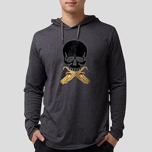 Skull with Saxophones Long Sleeve T-Shirt