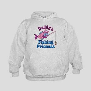 Daddy's Fishing Princess Kids Hoodie