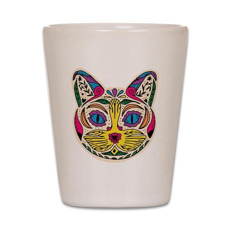 Multicolored Cat Shot Glass