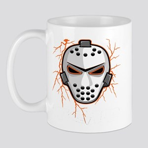 Orange Lightning Goalie Mask Mug