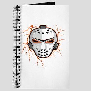 Orange Lightning Goalie Mask Journal