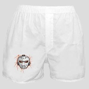 Orange Lightning Goalie Mask Boxer Shorts