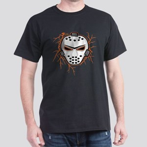 Orange Lightning Goalie Mask Dark T-Shirt