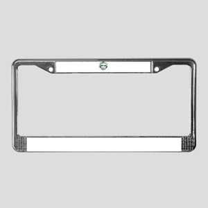 Green Lightning Goalie Mask License Plate Frame