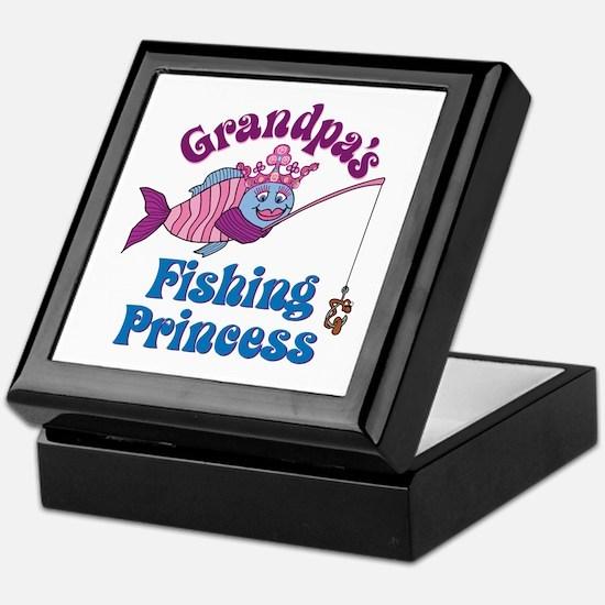 Grandpa's Fishing Princess Keepsake Box