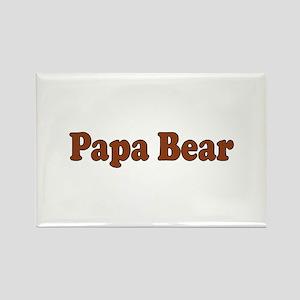 Papa Bear Rectangle Magnet