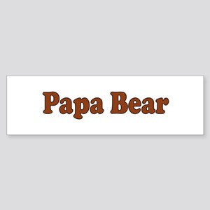 Papa Bear Bumper Sticker