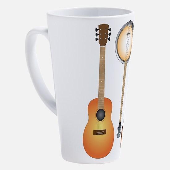 Cute Music ukulele 17 oz Latte Mug