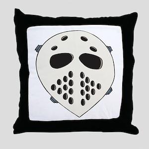Goalie Mask Throw Pillow