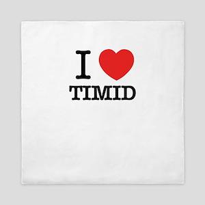 I Love TIMID Queen Duvet