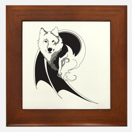 Wolf & Dragon Framed Tile