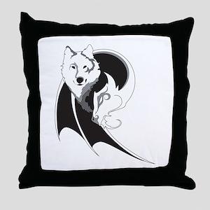 Wolf & Dragon Throw Pillow