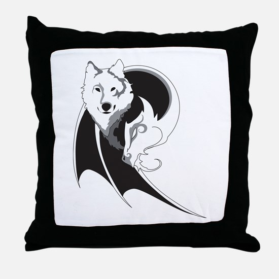 Wolf & Dragon Throw Pillow