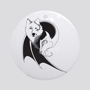 Wolf & Dragon Ornament (Round)