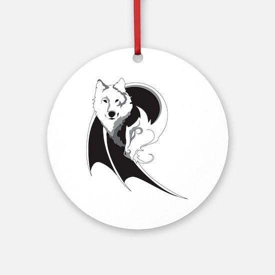 Wolf & Dragon Ornament (Round)