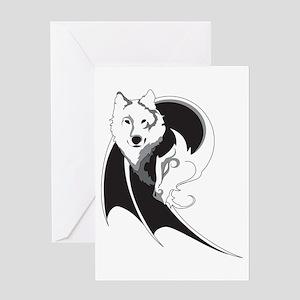 Wolf & Dragon Greeting Card
